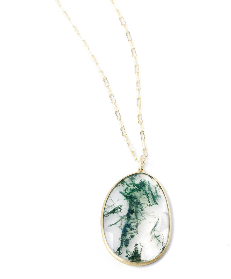 "Heritage Collection ""Lollapalazette"" Moss Chalcedony Pendant"