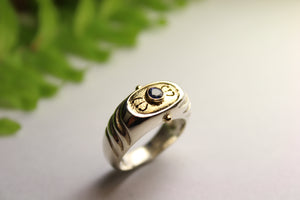 Sterling Silver and Blue Sapphire Ring