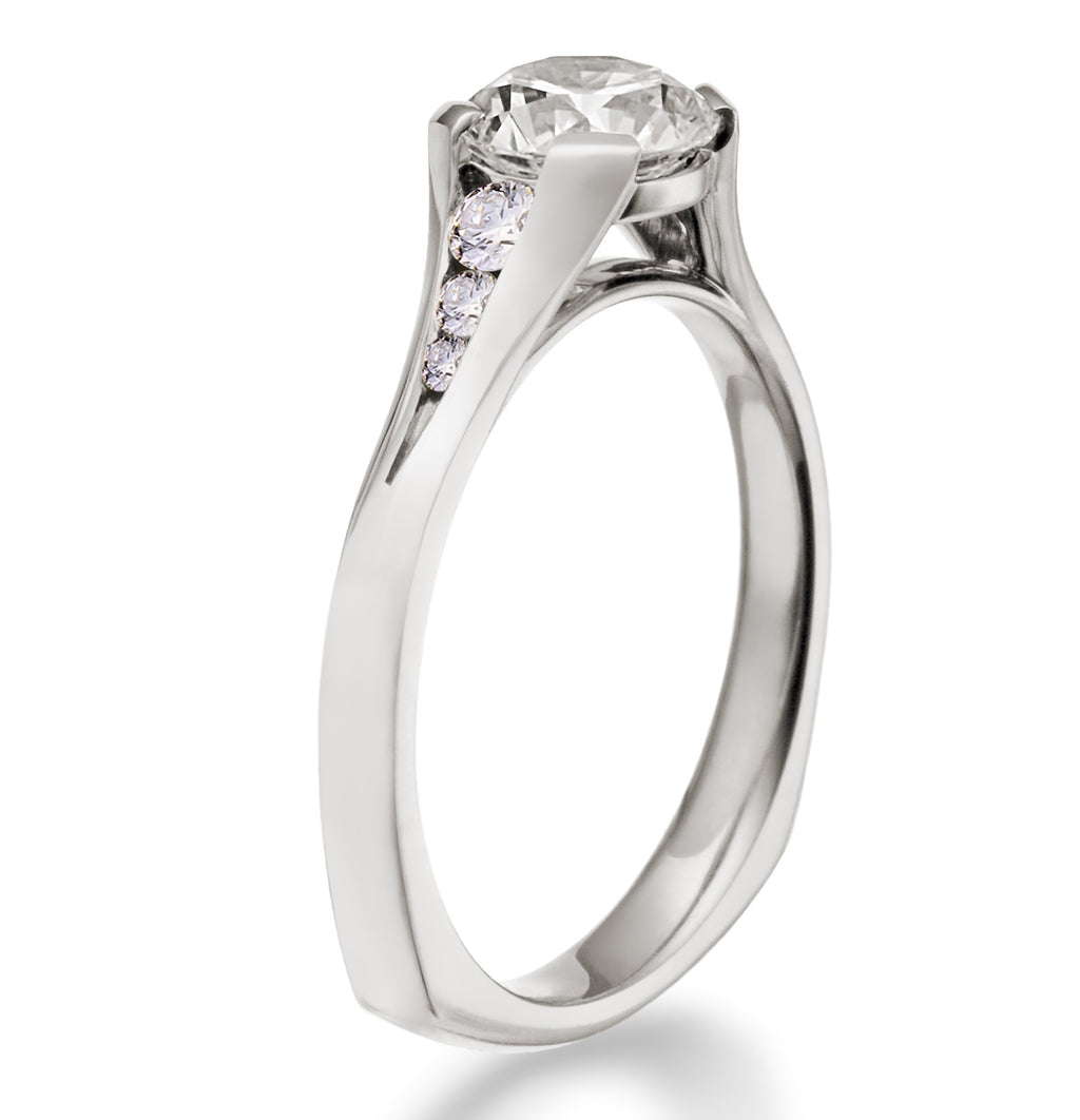 "Toby Pomeroy ""Caprina"" 14k White Gold Engagement Ring"