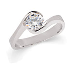 """Martiza"" 14k White Gold Engagement Ring"