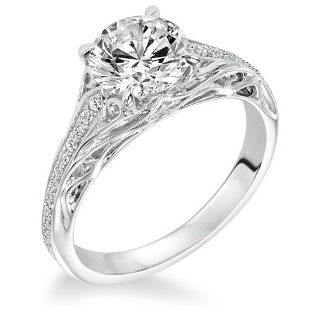 Frederick Goldman 14k White Gold Engagement Ring