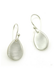 Flat Drop Silver Earrings