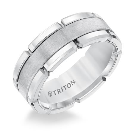 Triton White Tungsten Band 11-5252HC