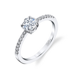 """Lumiere"" 18k White Gold Engagement Ring"