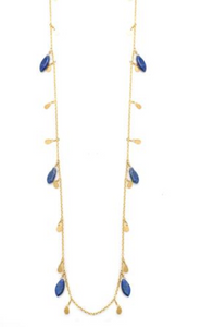 Vermeil and Lapis 36 inch Necklace