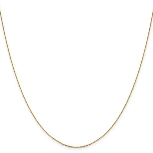 14k Yellow Gold Diamond Cut Cable Chain