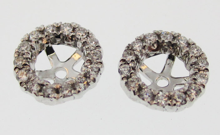 14k White Gold Diamond Jackets