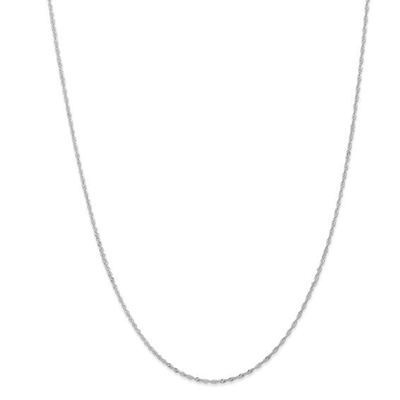 "14K White Gold 18"" Singapore Chain"