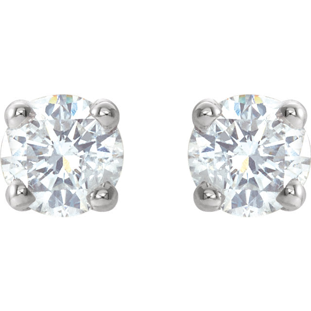 .47 CT WT Diamond Stud Earrings