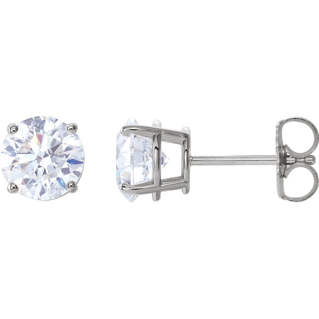 7mm Round Cubic Zirconia Earrings