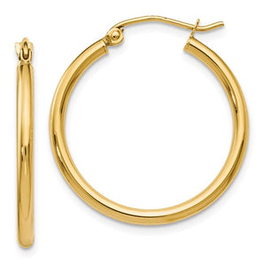 14k Yellow Gold Hoop Earrings