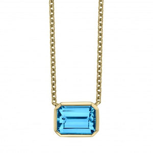 Blue Topaz 14kt Yellow Gold Necklace