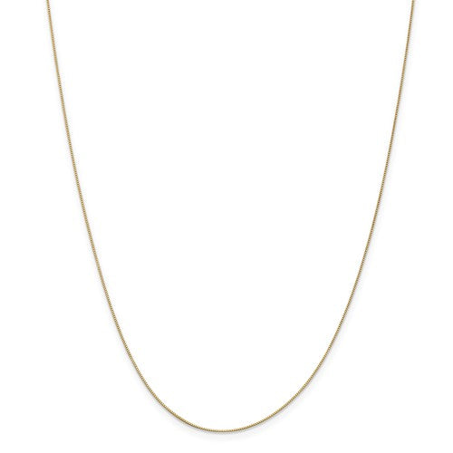 "14k Yellow Gold 18"" Baby Box Chain"