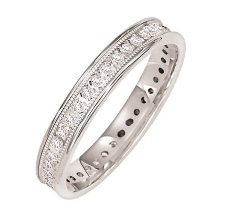 Frederick Goldman 14k White Gold Diamond Band