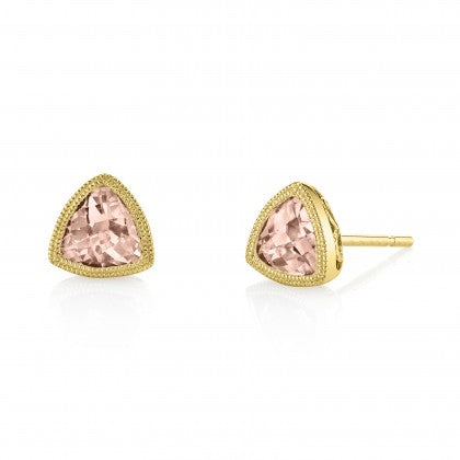 14k Rose Gold Morganite Earrings