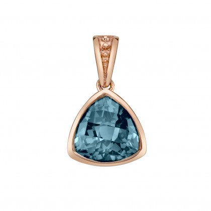 14k Rose Gold London Blue Topaz Pendant