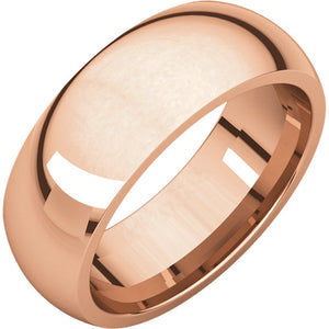 10k Rose Gold Band
