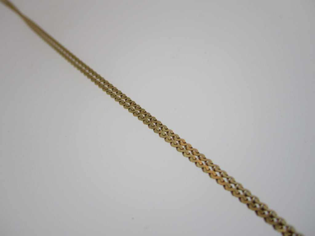 "18.5"" 14k Yellow Gold Bangle Chain"