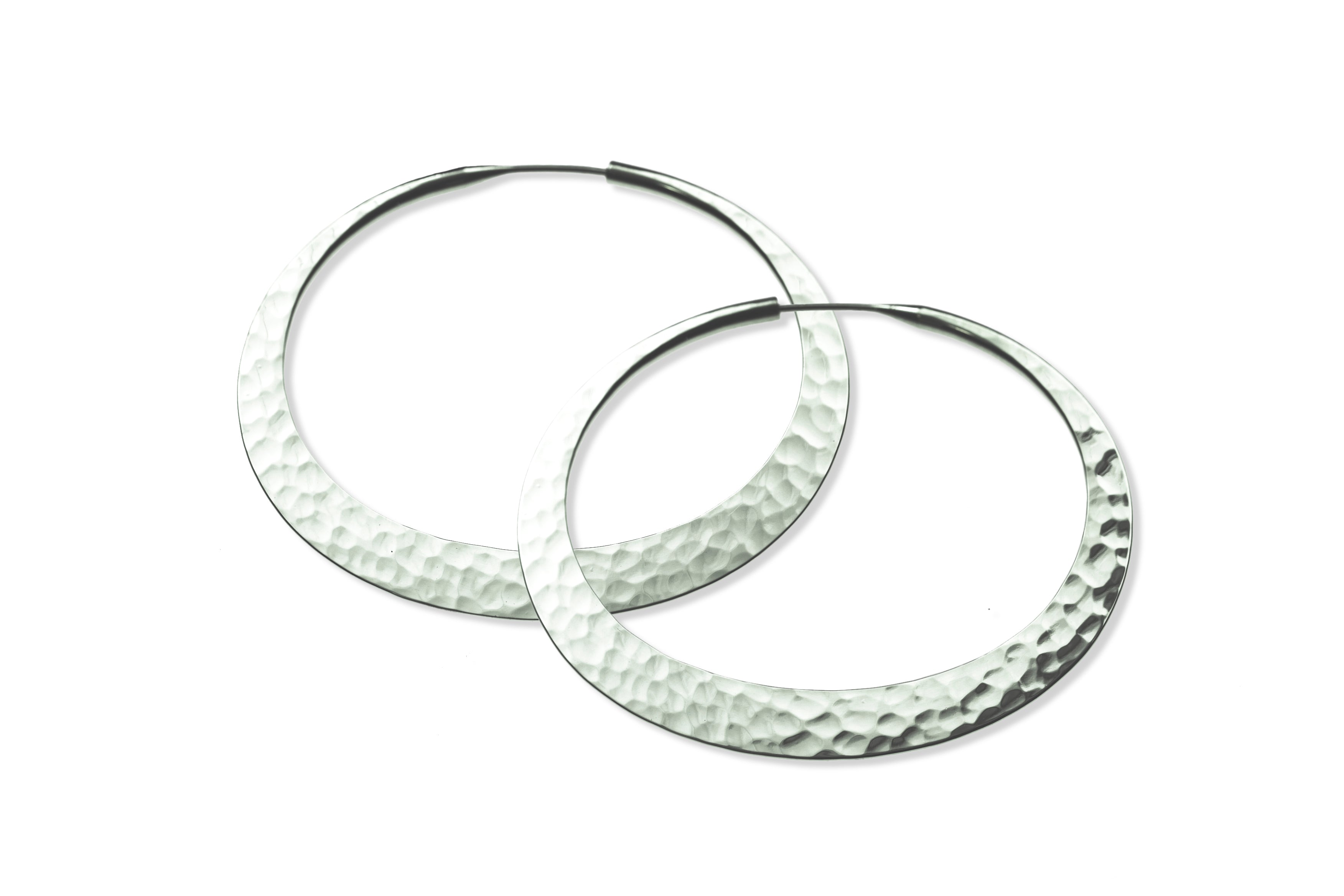 Toby Pomeroy Eco Silver Hoops 32mm