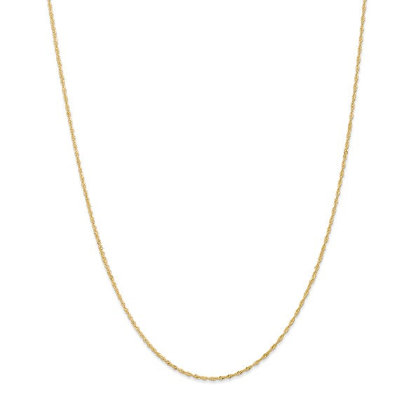 "14K Yellow Gold 20"" Singapore Chain"