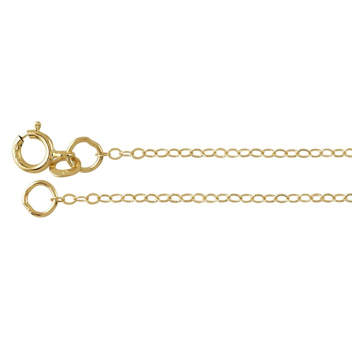 14k Yellow Gold Cable Chain 16""