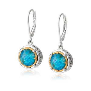 Sterling Silver Chrysocolla Earrings