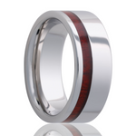 Tungsten and Coral Wedding Band