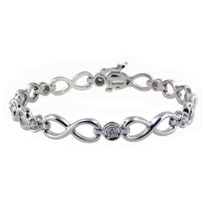 14k White Gold Tennis Bracelet