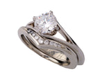 "Toby Pomeroy ""Bollea"" 14k White Gold Engagement Ring"