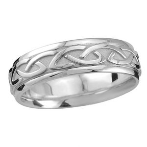 Sterling Silver Celtic Knot-work Band