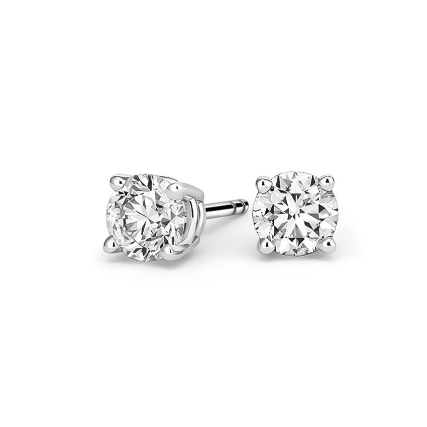 .40 CT WT Diamond Stud Earrings