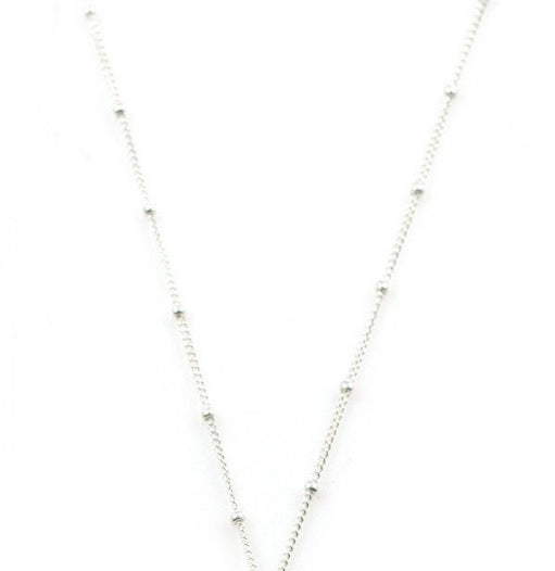 Sterling Silver Station Beaded Chain