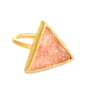 "Bamboo Collection ""Trio"" Sand Druzy Ring"