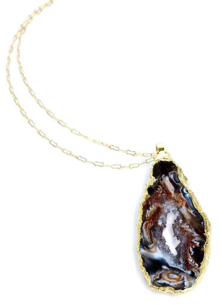 "Ha Long Bay Collection ""Pinnacle"" Geode Necklace"