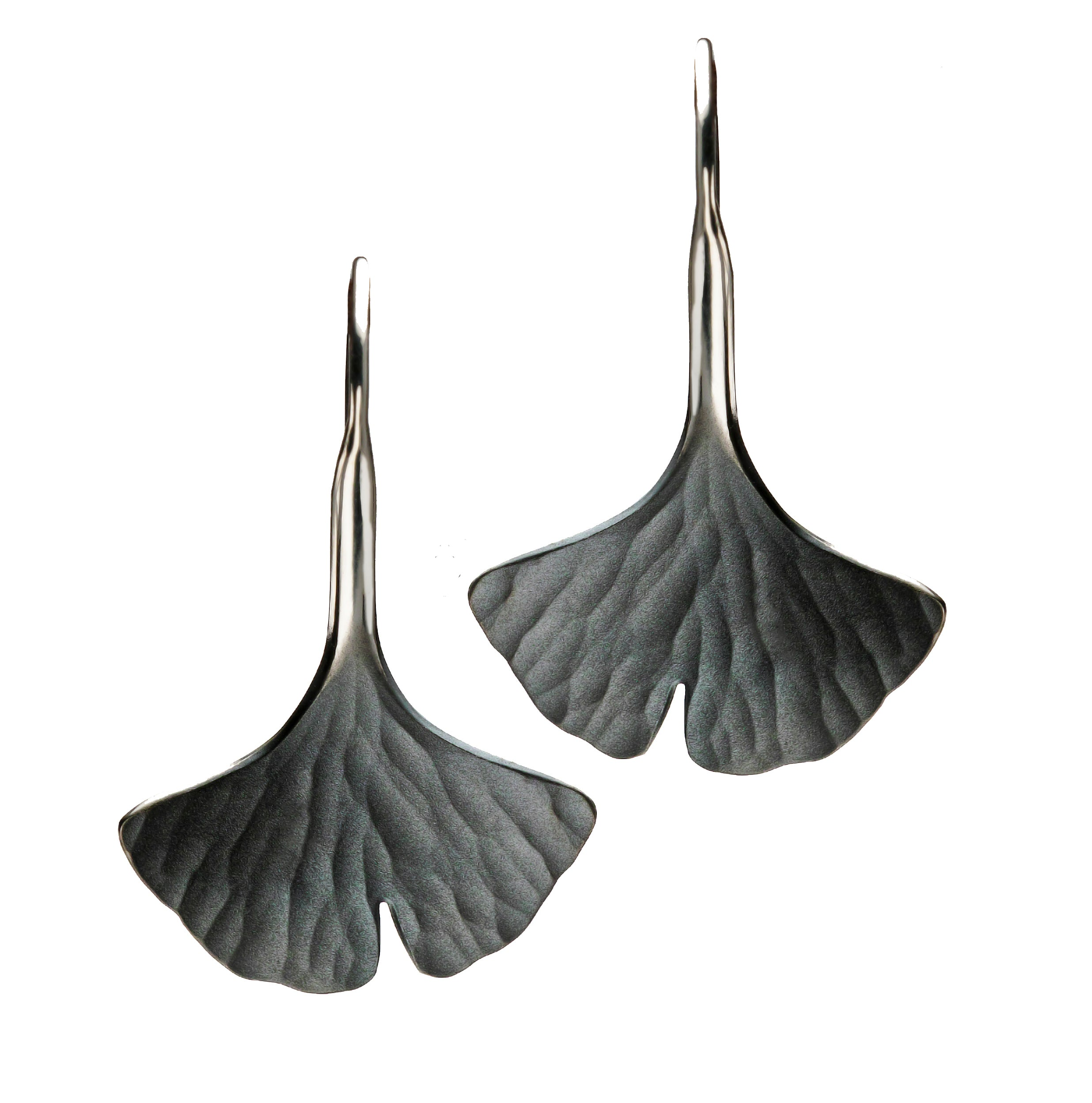 Toby Pomeroy Eco Silver Ginko Leaf Earrings