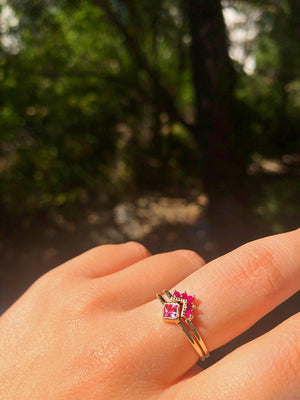 Mason Grace Ruby Chevron Ring