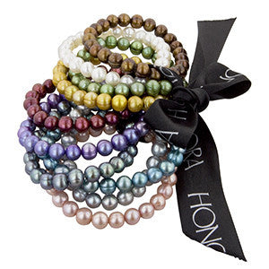 Single Strand Pearl Bracelet - Assorted colors