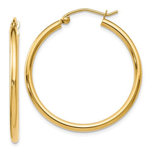 14k Yellow Gold Hoop Earring