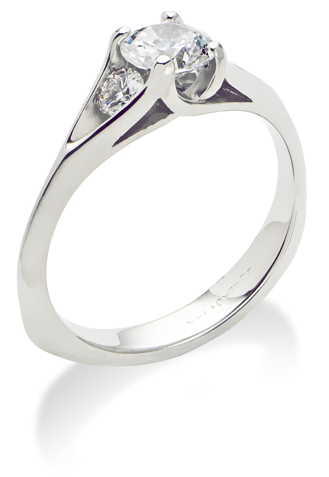 """Oraria"" 14K white gold diamond engagement ring"