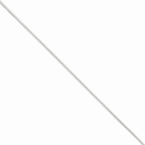 "16"" Sterling Silver 1.25mm Spiga/Wheat Chain"