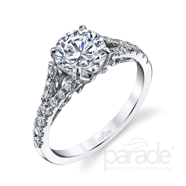 """Hemera"" 18K white gold diamond engagement ring"