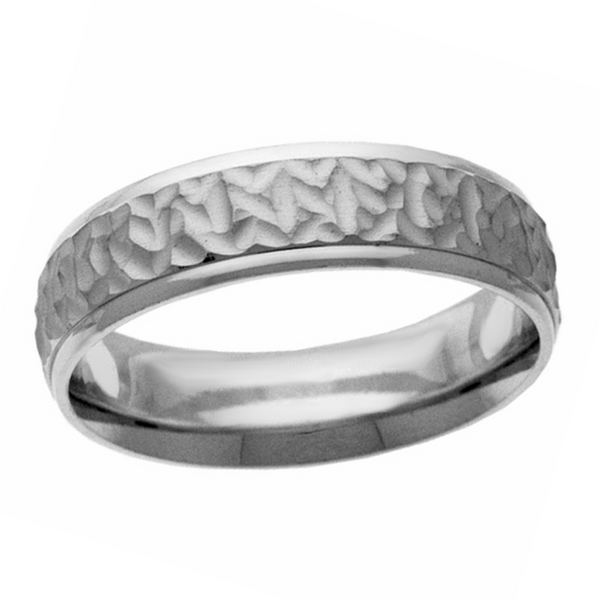 Sterling Silver Organic Hammered Band