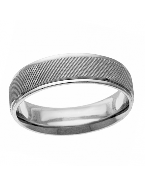 Sterling Silver Grooved Band
