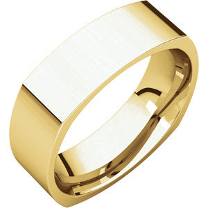 14k Yellow Gold Square Band