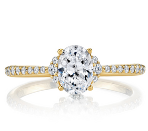 Parade R4684 18K Yellow Gold Oval Center Engagement Ring