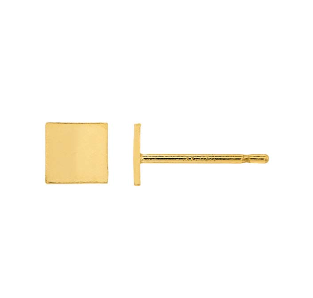 Gold Filled Square Earrings