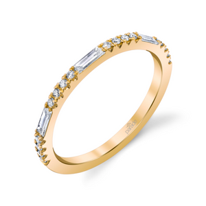 """Charites"" 14k Yellow Gold Diamond Band"