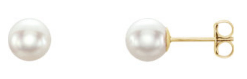 5.5-6mm Pearl Stud Earrings