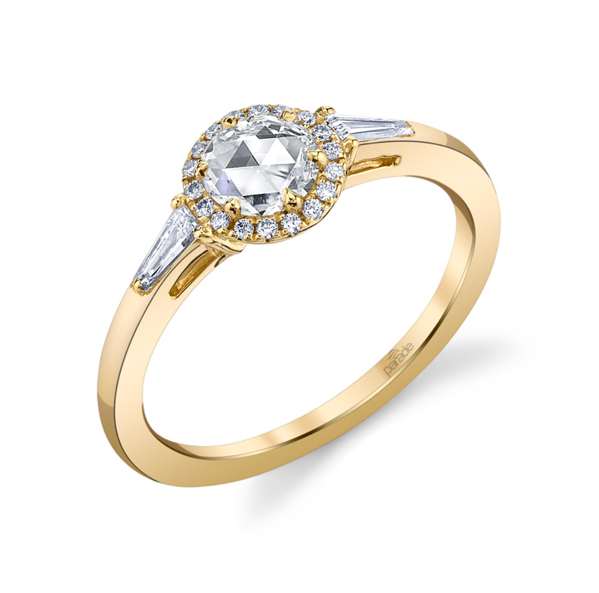 "Parade ""Lumiere"" 18K Yellow Gold Diamond Engagement Ring"