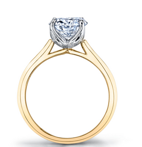 Solitaire Engagement Ring Side View